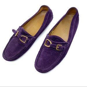 Ralph Lauren Purple Suede Driving Shoe Size 10.5